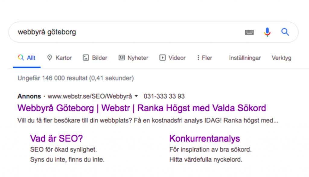webbyrå webstr Google Ads
